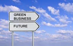 Teken aan groene zaken en toekomst royalty-vrije stock afbeeldingen