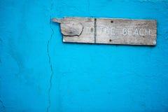 Teken aan het strand Royalty-vrije Stock Foto's