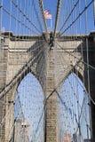 Teken, Bakstenen, dichtbij de Brug van Brooklyn Stock Afbeeldingen