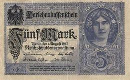 5 teken - Bankbiljet royalty-vrije stock fotografie
