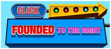 Teken-banner-klik Royalty-vrije Stock Afbeelding