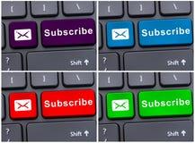 Teken bericht op toetsenbord in ingaan sleutel Royalty-vrije Stock Afbeeldingen