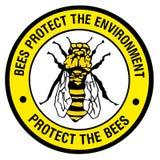 Teken - bescherm de bijen Royalty-vrije Stock Foto