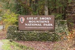 Teken bij Nationaal Park royalty-vrije stock afbeeldingen