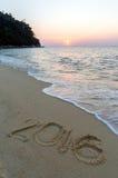 Teken bij strand Royalty-vrije Stock Foto's