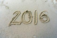 Teken bij strand Stock Afbeelding