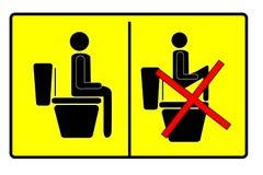 Teken bij toilet Stock Afbeelding