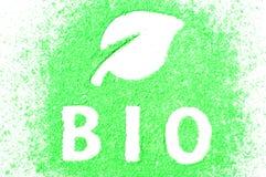 Teken BIO royalty-vrije stock fotografie
