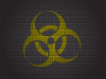 Teken biohazard stock illustratie