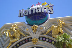 Teken in de voorzijde van het het Hotel en Casino van Harrah s Las Vegas Royalty-vrije Stock Foto's
