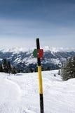 Teken die de ski merken piste royalty-vrije stock afbeeldingen
