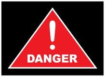 Teken die gevaar tonen Waarschuwingen over de gevaren vector illustratie