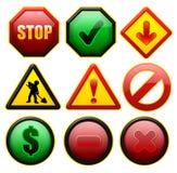 Teken en pictogrammen Stock Foto's