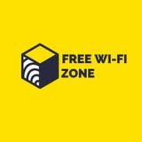 Teken en symbool, vrij draadloos Internet WiFi-gebied vector illustratie