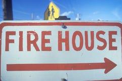 Teken: Firehouse stock afbeelding