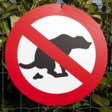 Teken: geen hond het pooping Stock Afbeelding