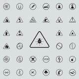 teken gevaarlijk UVpictogram Voor Web wordt geplaatst dat en het mobiele algemene begrip van waarschuwingsbordenpictogrammen vector illustratie
