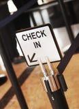 Teken in het hotel met ruimte voor uw tekst Royalty-vrije Stock Foto