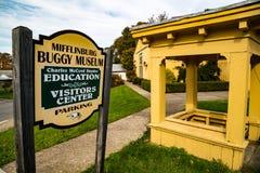 Teken het Met fouten van het Mifflinburgmuseum stock foto
