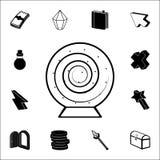 teken in het pictogram van de spel magische bal Voor Web wordt geplaatst dat en het mobiele algemene begrip van spelpictogrammen stock illustratie