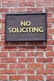 Teken het verbiedende verzoeken stock fotografie