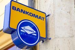 Teken het Wereldwijd van de EURONETmuur Royalty-vrije Stock Afbeelding