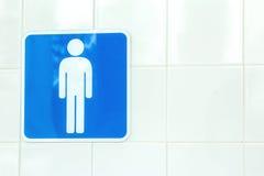 Teken mannelijke toiletten Royalty-vrije Stock Foto's