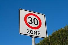 Teken maximumsnelheid 30 Royalty-vrije Stock Afbeeldingen
