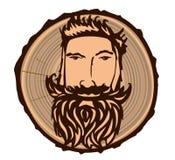 Teken met een houthakker vector illustratie