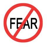 Teken om vrees tegen te houden royalty-vrije illustratie