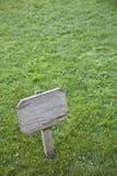 Teken op het gras Royalty-vrije Stock Foto's