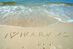 Teken op het strand royalty-vrije stock foto