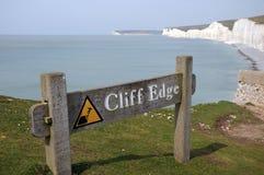 Teken op klippen, Birling Hiaat, Sussex Stock Fotografie