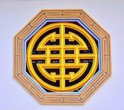 Teken op muur van Chinese tempel Royalty-vrije Stock Fotografie
