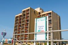 Teken op Virginia Beach Boardwalk voor Strandtoegang Royalty-vrije Stock Foto's
