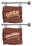 Teken: Open/gesloten Stock Foto's
