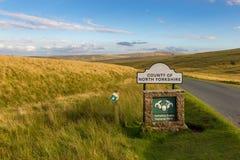 Teken: Provincie van North Yorkshire stock foto