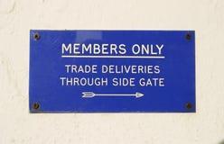 Teken, slechts Leden Royalty-vrije Stock Fotografie