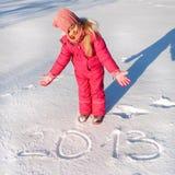 Teken in sneeuw 2013 Royalty-vrije Stock Foto's