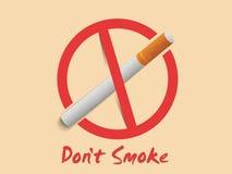 Teken of symbool tegen het roken voor Nr - het roken Dag Royalty-vrije Stock Fotografie