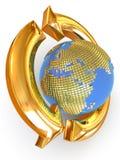 Teken van Aarde. recycling Stock Afbeelding