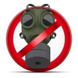 Teken van de aanval van het Eindegas en chemisch wapen Stock Afbeeldingen