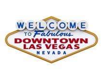 Teken Van de binnenstad 1 van Vegas van Las Royalty-vrije Stock Afbeelding