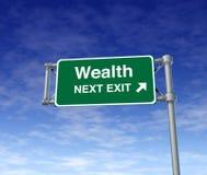 Teken van de de vrijheids rijke onafhankelijkheid van de rijkdom het Financiële vector illustratie