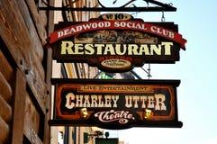 Teken van de Deadwood het sociale club Stock Foto's
