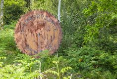 Teken van de Glenborrodale-zaagmolen royalty-vrije stock afbeeldingen