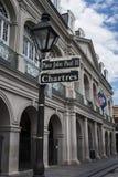 Teken van de het Kwartstraat van New Orleans het Franse Royalty-vrije Stock Fotografie