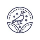 Teken van de het pictogram het vectorvogel van de vogeltoekenning voor uw website of mobiele toepassingen stock illustratie