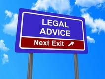 Teken van de juridisch advies het volgende uitgang Royalty-vrije Stock Foto's