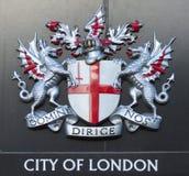 Teken van de stad van Londen Stock Afbeeldingen